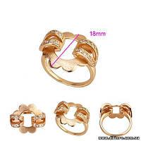 Необычное кольцо Цветок золото