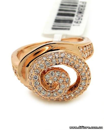 Роскошное кольцо с россыпью фианитов