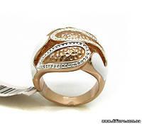 Симпатичное кольцо с белой ювелирной эмалью