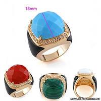 Стильное кольцо с кожаными вставками