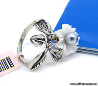 Хорошенькое кольцо с серой жемчужиной