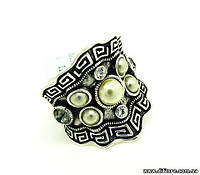 Эффектное кольцо с греческим орнаментом