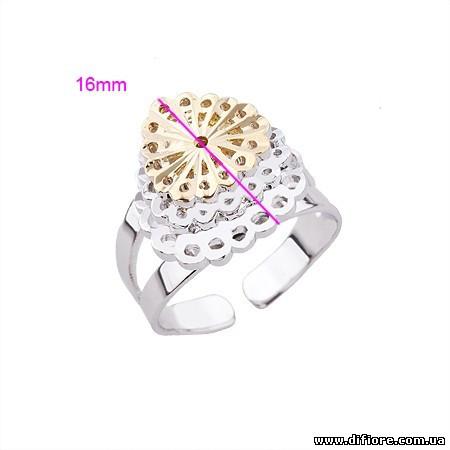 Объемное кольцо Ажур