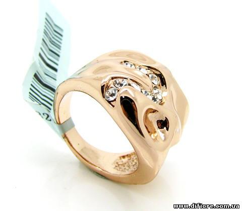 Оригинальное кольцо с фианитами