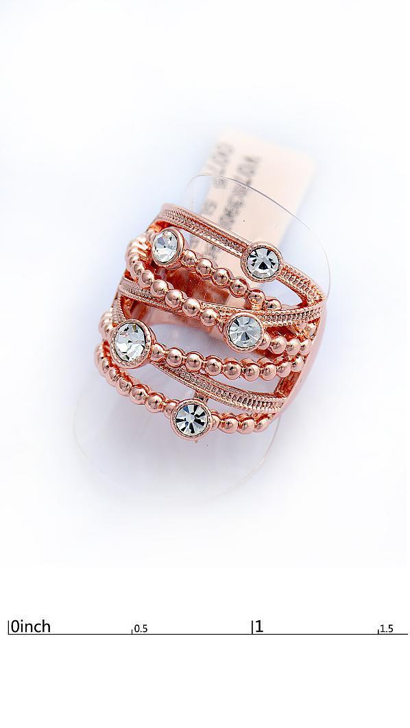 Оригинальное кольцо с фианитами позолота