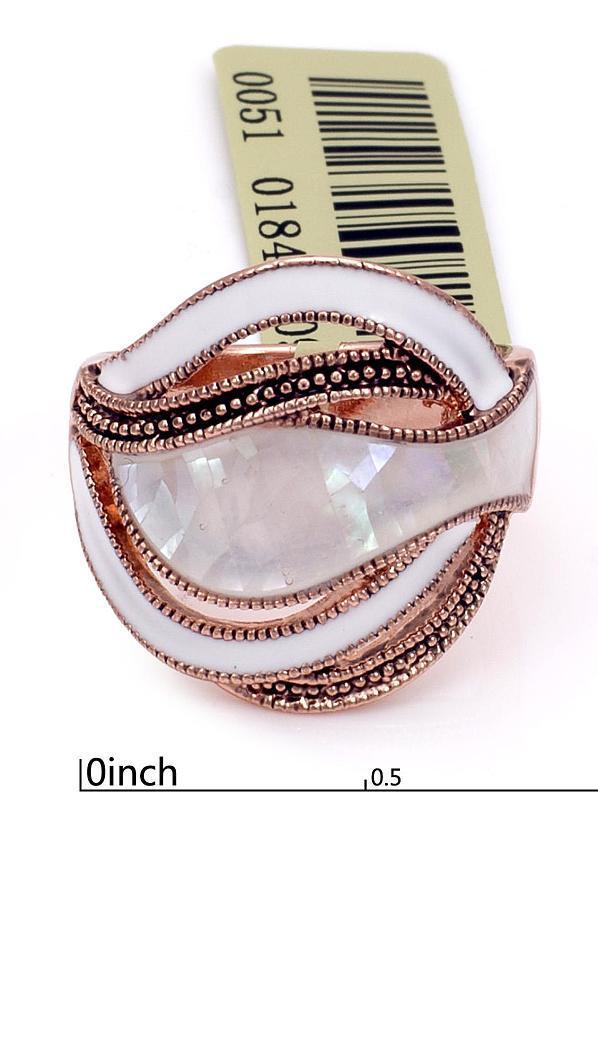 Прекрасное кольцо с эмалью и мозаикой из натуральноего перламутра