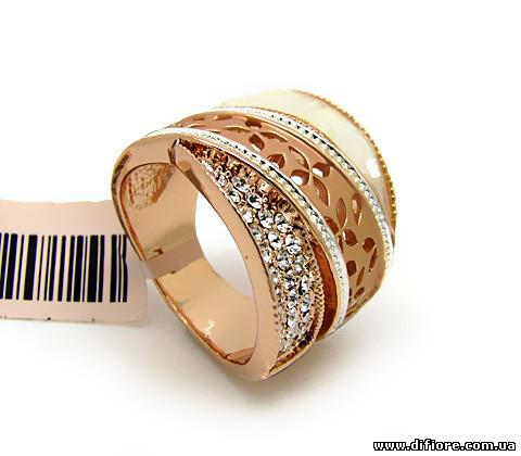 Прекрасное резное кольцо с перламутром