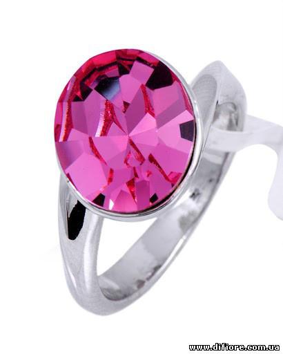 Прелестное кольцо с розовым фианитом