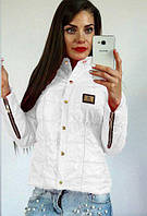 """Куртка женская на синтепоне """"Zaryna"""": распродажа 48, белый"""