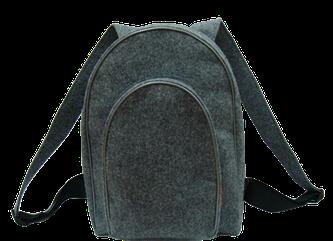 Рюкзак войлочный  серый