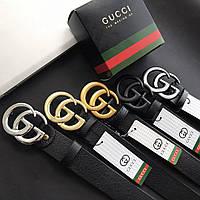 Кожаный женский ремень Gucci 5 цветов (Реплика AAA+)