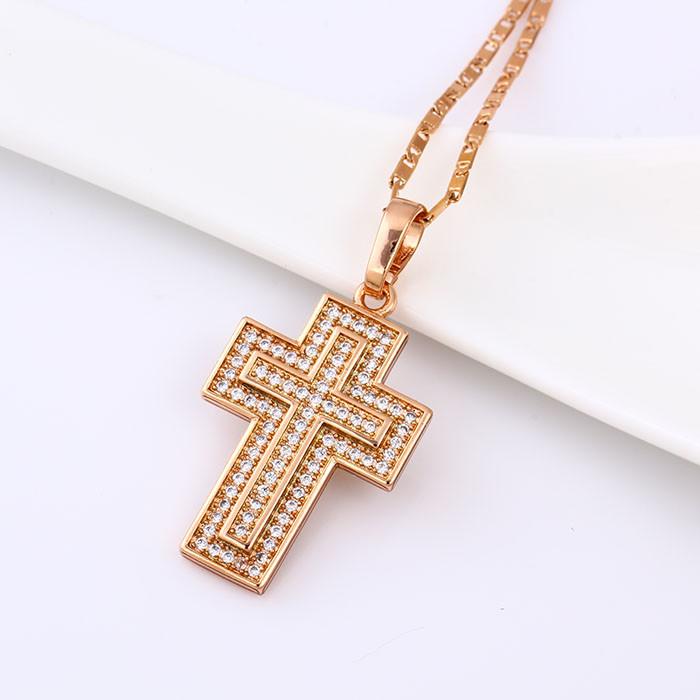 Великолепный кулон Крест с фианитами