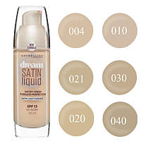Тональный крем 30 мл MAYBELLINE Dream Satin liquid  (А №4,20,30) (В № 10,21,40) - 16N400  В (10,21,40)