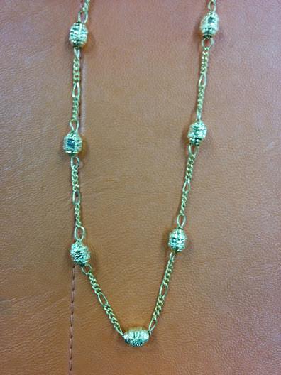 Интересная цепочка декоративного плетения с резными овальными звеньями