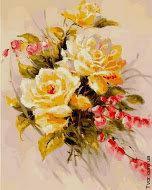 Картина по номерам Желтые розы 40x50
