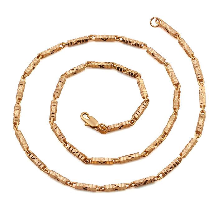 Необычная цепочка Sofique с резными длинными цилиндрическими звеньями 41038