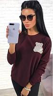 Женский свитер Мишка с бусинками  аан1111, фото 1