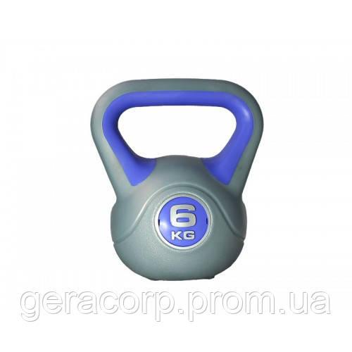 Гиря пластиковая насыпная 6 кг PLASTIC KETTEL BELL LS2047-6
