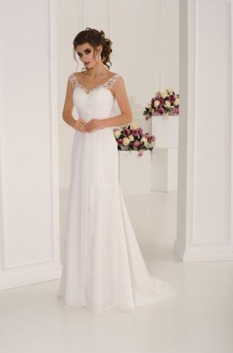 95c625d340d Легкое свадебное платье в греческом стиле с прозрачной спинкой  4 ...