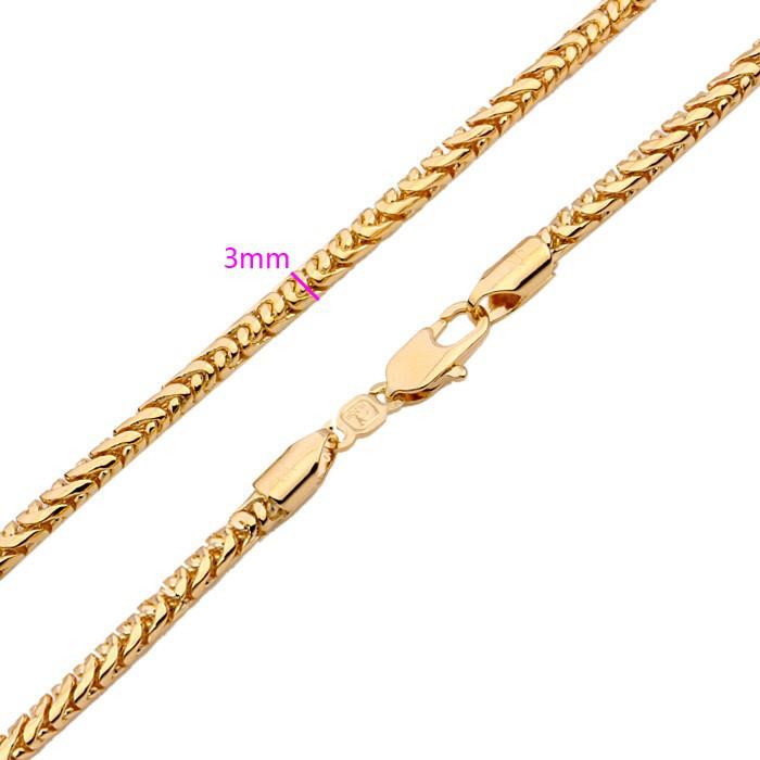 Позолоченная цепочка с плетением Снейк