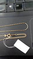 Позолоченная цепочка тонкого сколоченного плетения