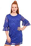 Нарядное платье  из кружевного гипюра для девочки 140-152р, фото 2
