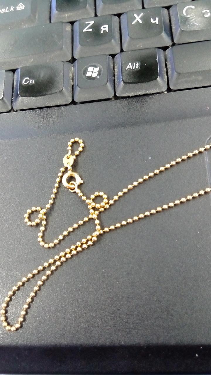 Точеная тонкая цепочка с плетением Перлина