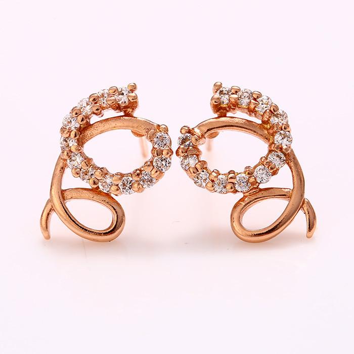 Позолоченные серьги Sofique розовое золото 26415