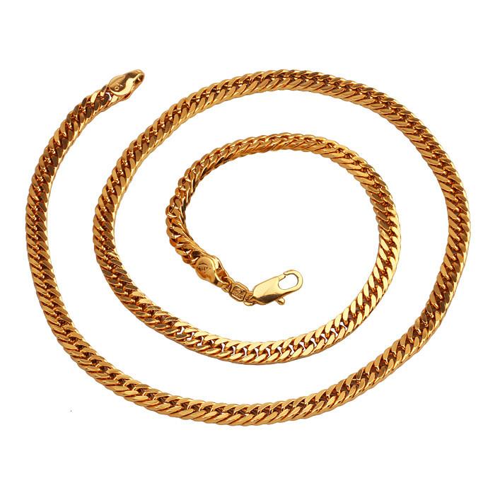 Позолоченная цепочка Sofique плотного панцирного плетения 40971