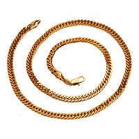 Позолоченная цепочка Sofique плотного панцирного плетения 40971, фото 1
