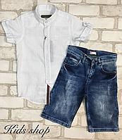 Детские джинсовые бриджи для мальчика
