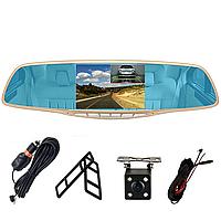"""Зеркало - видеорегистратор 5.0"""" дюймов с видеопарковкой и камерой заднего вида. Модель ЕА350, фото 1"""