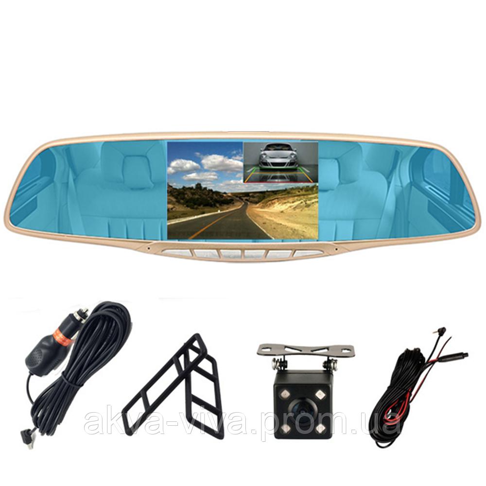 """Зеркало - видеорегистратор 5.0"""" дюймов с видеопарковкой и камерой заднего вида. Модель ЕА350"""