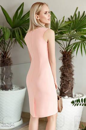 Летнее платье средней длины с разрезом без рукав большие размеры, фото 2