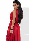 Платье макси из шелка Армани бордовое, фото 2
