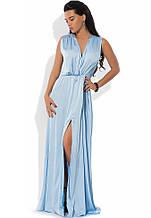 Сукня максі з шовку Армані блакитне