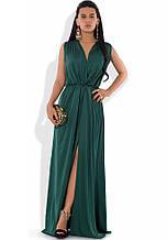 Сукня максі з шовку Армані зелене