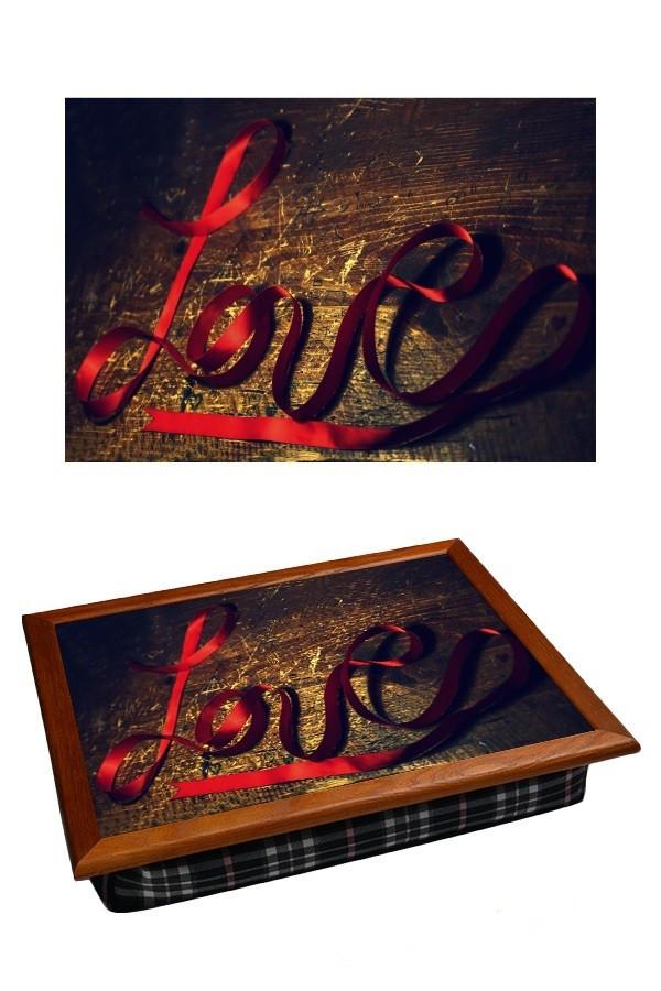 Поднос с подушкой Любовь