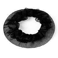 Сеточка для волос черная с рюшем