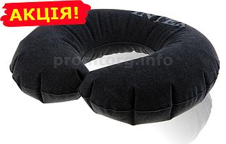 """Надувна подушка для подорожей """"INTEX"""", колір темно-сірий, розмір XXL (36х30х10)"""