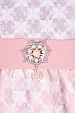 Платье из теплой ткани нежно-розового цвета с имитацией гипюра 116-134р, фото 5