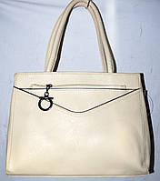 Женская молочная сумка из искусственной кожи с 1 отделом 31*24 см