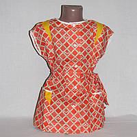 Новый халатик, блузон к юбочке или шортам на 3-4 года