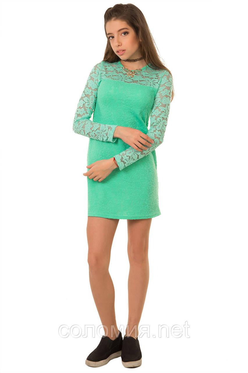 Нарядное платье из комбинированной ткани двух видов 134-152р
