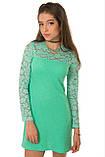 Нарядное платье из комбинированной ткани двух видов 134-152р, фото 3