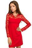 Яркое Нарядное платье из комбинированной ткани двух видов 134-152р, фото 2