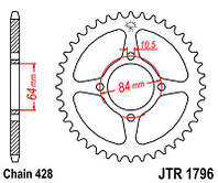 Звезда задняя JTR1796.49