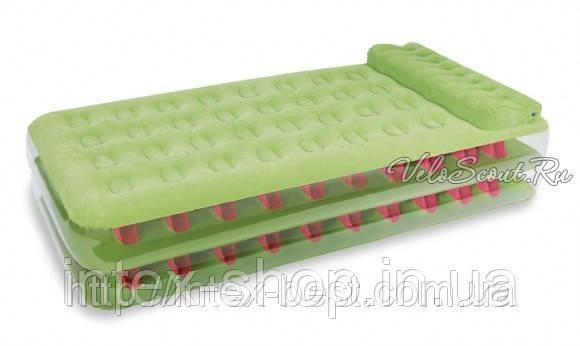 Односпальная надувная кровать Intex 67716 внешний электронасос 220В
