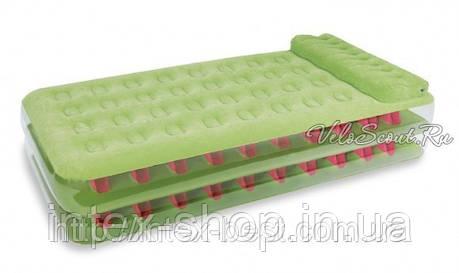 Односпальная надувная кровать Intex 67716 внешний электронасос 220В, фото 2