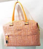 Женская сумка из натур кожи 33 х 22 см цвет рыжий, фото 1